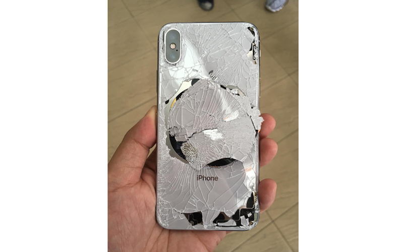 Broken iPhone X