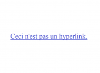 This is not a hyperlink in French
