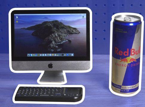 This mini iMac is actually a custom Raspberry Pi 4