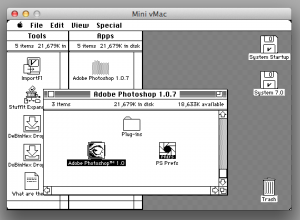 A screenshot of Photoshop 1.0