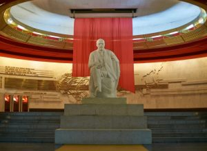 The Lenin statue in the Lenin Museum