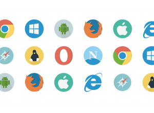 a list of 18 web browser icons