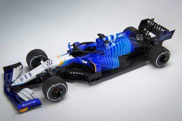 the Williams FW43B Formula 1 car