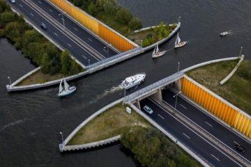 the Veluwemeer Aqueduct